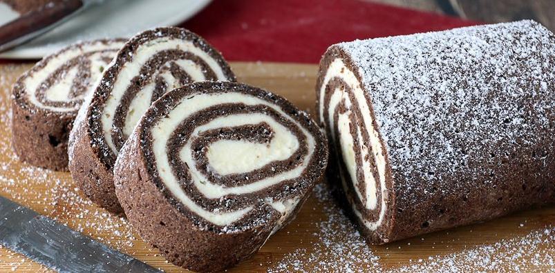 Keto Chocolate Roll Cake
