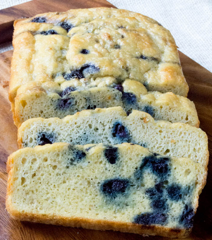 LOW CARB BLUEBERRY MUFFIN BREAD LOAF