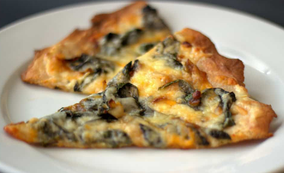 Low Carb Spinach Pizza