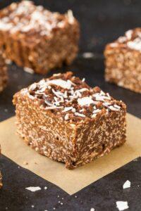 Keto Chocolate Coconut Crunch Bars