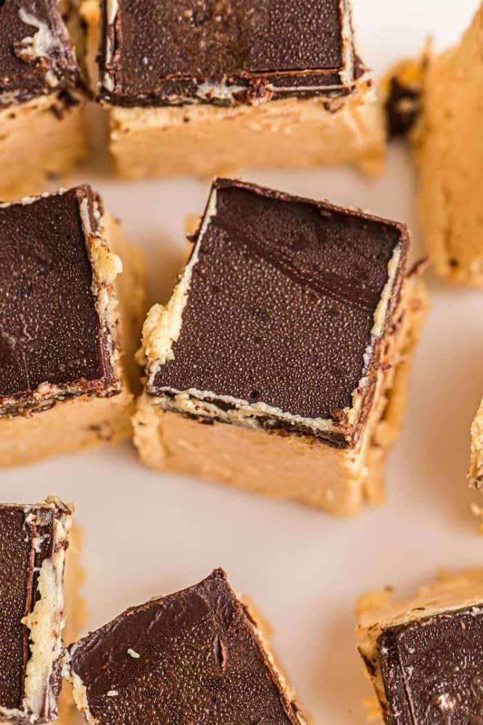 KETO PEANUT BUTTER CHOCOLATE HEAVEN BARS
