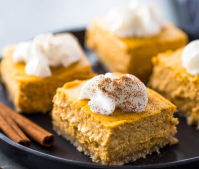 Keto Pumpkin Cheesecake Bars