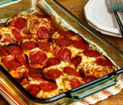 Low Carb Pepperoni Pizza Chicken edit